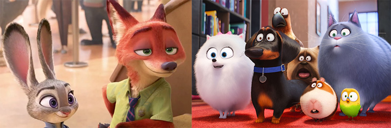 Zootopia Vs Secret Life Of Pets