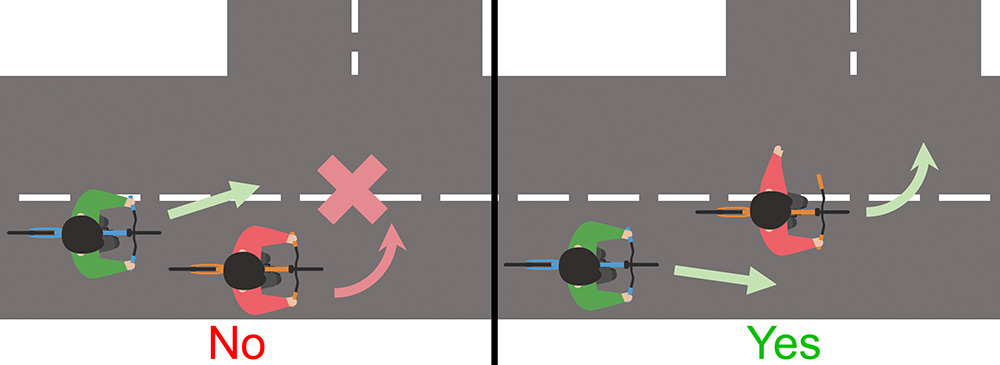 bicycle not signalling